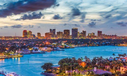 Fort,Lauderdale,,Florida,,Usa,Skyline.