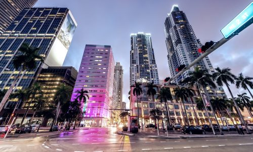 Streets,And,Buildings,Of,Downtown,Miami,At,Night.